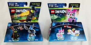 LEGO Dimensions The Wizard of Oz Wicked Witch and LEGO Movie Unikitty - Used