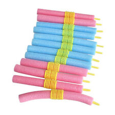 12pcs/set Soft Foam Anion Bendy Hair Rollers Curlers Cling for Charming Women