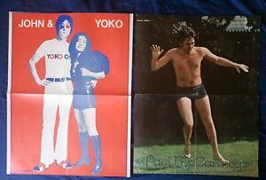Circus magazine 1972 - 1973 poster large Paul McCartney John Lennon Yoko Ono