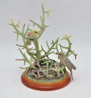 Boehm Porcelain Sculpture 400-02 Verdins Vintage Figurine Bird Thorns Bee