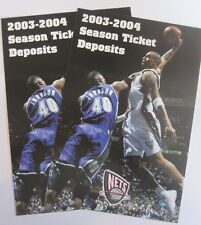 lot of 2 NEW JERSEY BROOKLYN NETS KENYON MARTIN  oversized postcards 2003 - 04