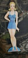 Vtg Betty Grable Paper Cut Out Doll