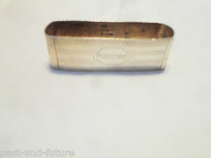 """ALVIN STERLING NAPKIN RING ENGRAVED NAME OF ROSEMARY, 3/4"""" BY 2 1/2"""""""