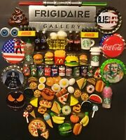Food Drink Resin 3D Fridge Magnet Lot Handcrafted 👻🧲 (6) Pc Mini Style