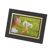 "Kenro 7x5"" Photo Strut Mount Card Board Picture Holder- Choice of 4 Colours Blue With Gold Border 50"