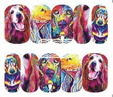 Nail Art Decals Transfers Stickers Dog Lovers Delight (A-1285)