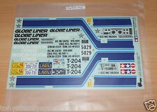 Tamiya 56304 Globe Liner, 9495186/19495186 Décalques/Autocollants, Neuf sous emballage