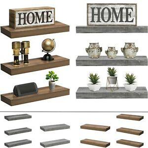 Sorbus Floating Shelves, Farmhouse Hanging Wall Shelf Décor - 16 Inches - 3 Pack