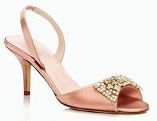 NEW Kate Spade 'Miva' 8.5 Medium (B,M) Dusty Pink Satin Women's Heels Shoes