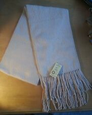 "Alpaca Camargo Light Tan Scarf Made In Peru 69"" X 9"""