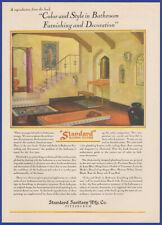 Vintage 1929 Standard Plumbing Fixtures Bathroom Decor Clarence Cole Print Ad