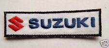 SUZUKI Embroidered Sew On Biker patch GSXR SV GSR Vitara DZR GT Kettle GS TL VZ