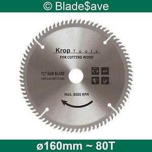 HiKOKI Circular Saw Blade Fine Cut TCT 160mm x 16/20mm x 80T by KROP