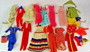Vintage 1960s Barbie Clone Handmade Doll Clothes Lot - 27 pieces
