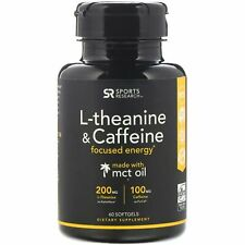 L-Theanine & Caffeine with MCT Oil, 58 Softgels.