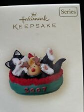 Hallmark Keepsake 2007 Mischievous Kittens Collector's Series #9 Bed and Slipper