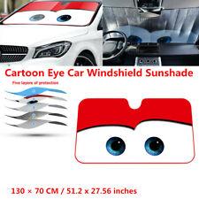 Cartoon Eye Car Windshield Sunshade Reflective Front Window Sun Visor Cover Red