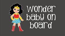 Wonder Woman WONDER Baby on Board / Avengers / Vinyl Vehicle Kids Decal Sticker