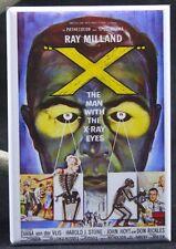 """X"" The Man With the X-Ray Eyes 2"" X 3"" Fridge / Locker Magnet."