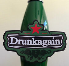 "Heineken ""DRUNK AGAIN"" custom kegerator draft beer tap handle - NEW"