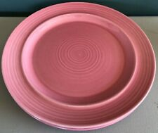 "Vintage Metlox Colorstax Plate 10.5"" Dinner Rose Set of 2 Poppytrail Pink"