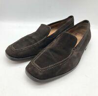Genuine John Lobb Dark Brown Suede Slip On Loafers Debranded Mens Shoes Size 7