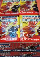 LOT of 5 packs (UNOPENED / SEALED): 1991 American Gladiators Glossy Cards Topps