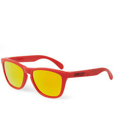 Oakley Frogskins Sunglasses with Matte Red Frame and Fire Iridium Lenses