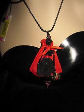 Betsey Johnson DARK FOREST RED RIDING HOOD SKELETON GIRL LONG NECKLACE