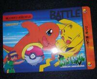 Vintage RARE90s Charmander vs PIKACHU Pokemon Bandai Carddass GLOSSY BATTLE CARD