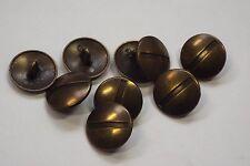 8pc 20mm Antique Gold Brass Metal Blazer Coat Cardigan Knitwear Kids Button 3483