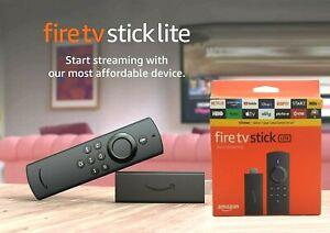 New Amazon Fire TV Stick Lite with Alexa Voice Remote (No TV controls) HD-2020