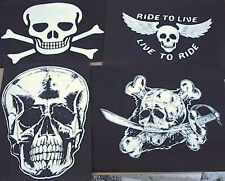 4  t shirt transfers mix iron on,wholesale bikers  skulls t-shirt printing