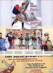 Tim und Struppi Heft Theater-Programm Tim sucht Struppi Theaterrevue Zeppelin HH