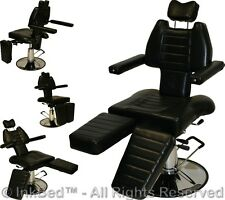 InkBed Adjustable Tattoo Reclining Hydraulic Ink Chair Salon Studio Equipment