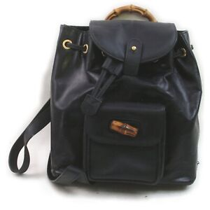 Gucci Back Pack  Black Leather 1513934