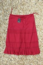 Women's Red/Pink Wine Masti Skirt M/L