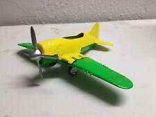 Vintage HUBLEY KIDDIE TOY Diecast Metal Grumman Hellcat Folding Wing Airplane