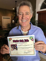 BARRY WILLIAMS DIRECT! Honorary Brady For Life SIGNED Certificate of Grooviness!
