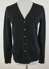 Mimi Maternity Sz S Basic Black Button Front Cardigan Sweater Silk Blend