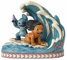 Disney Traditions Catch The Wave Lilo And Stitch Figurine Ornament 18cm 4055407
