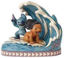 Disney Traditions Catch The Wave Lilo And Stitch Figurine Ornament 18cm 4055407