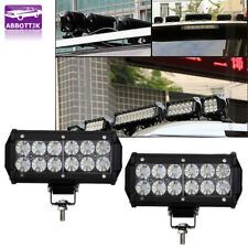 2Pcs 7inch 72W 6000K White Car Off-Road LED Work Lights FLOOD Fog DRL Lamps Ford