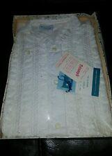 NWT Vtg  60s/70s Carol Brent White Blouse Shirt Size 34 Montgomery Wards L/S