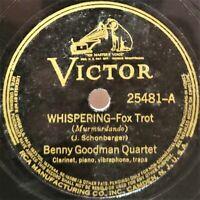 Benny Goodman Quartet: Whispering / Tiger Rag: Victor (Jazz)