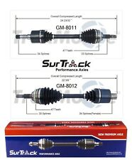 For Saturn SC1 SC2 SL SL1 FWD 1994-02 Pair of Front CV Axle Shafts SurTrack Set
