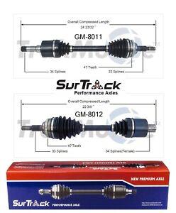 For Saturn SC1 SC2 SL SL1 FWD 1994-02 Pair of Front CV Axle Shafts SurTrack Set