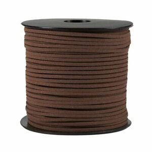Faux Leather Cord - 100-Yard Suede Leather Strap Beading Cord, Flat Leather Lace