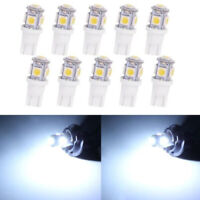 Set Of 10 T5 T10 Wedge Bulb White LED For Malibu 12V AC/DC Landscape Light