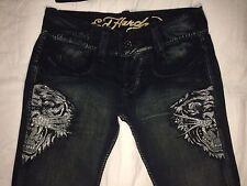Pantalones Ed Hardy GRANDE vaqueros jeans HOMBRE talla 38x34 ORIGINALES Y NUEVOS